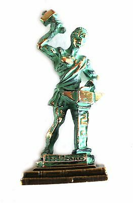 ANCIENT GREEK ZAMAC MINIATURE OF HAEPHESTUS green-gold