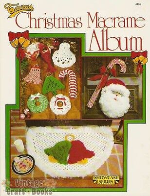 Christmas Macrame Album Vintage Instruction Pattern Book 1980 NEW Angels Tree
