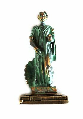 ANCIENT GREEK ZAMAC MINIATURE OF HERA Green Gold