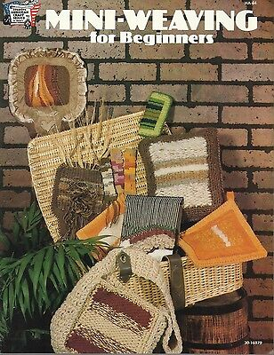 Mini-Weaving for Beginners Vintage Pattern Instruction Book NEW 1978