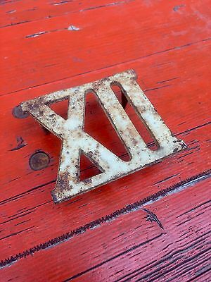 Antique Cast Iron Number 12 Roman Numeral Door Architectural Salvage Handle Xll
