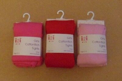 girls -121-cotton rich coloured tights