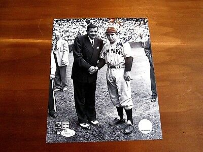 Yogi Berra Ny Yankees Hof With Babe Ruth Signed Auto 8 X 10 Photo Jsa  Authentic