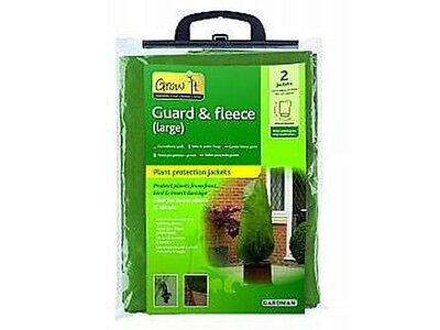 2 x Large Gardman Gard n Fleece Bags Plant Frost Protection Warming Jackets