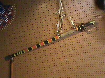 Native American Beaded Sword and Sheaf US Calvary Scout Warrior Society History