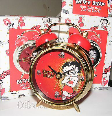Vandor BETTY BOOP MINI TWIN BELL ALARM CLOCK 10024 Retired 2008