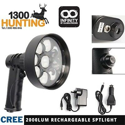 Led Handheld Spotlight 4D Lens 27W Cree Hunting Spot Light Rechargeable ***