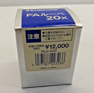 HAKUBA FAIL 20X Camera Lens; Y12,000; KLU-A03; Japanese NEW
