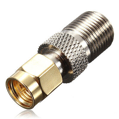 F Female Jack to SMA Male Plug Straight RF Coaxial Adapter Connector UK STOCK