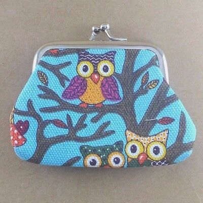 Hot Woman Owl Purse For Coin Banknote Keep In Canvas Pouch Wallet Hand Bag Style