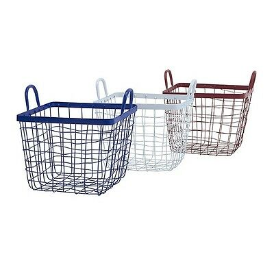 IMAX A0385810 Americana Wire Baskets - Set of 3 NEW