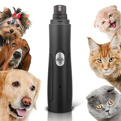 Electric Pet Nail Grinder Rechargeable Dog Paw Trimmer Painless Grooming Clipper