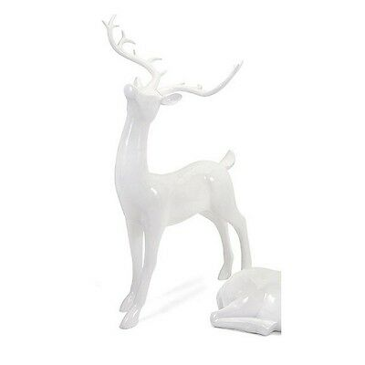 IMAX 88489 Playful Reindeer- White (antlers KD)-Standing NEW