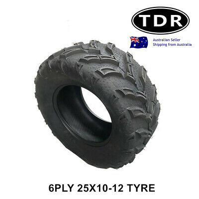 12 inch 25x10-12 Tyre Tire for Atomik 300cc Krusher Farm Bike 2x4 ATV UTV Quad