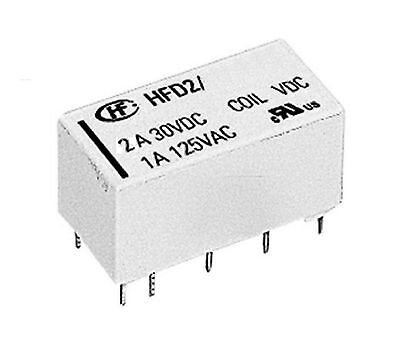 Bistable Latching Relay DPDT 2-Coil, 5V , 2A, Hongfa - Fast  Delivery