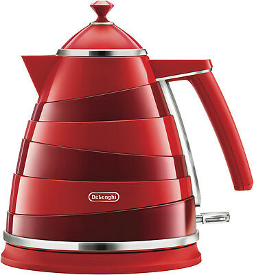 NEW DeLonghi KBA2001R Avvolta Kettle - Red