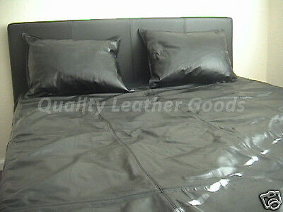 Genuine Nappa Sheep Leather Bed Sheet Duvet Set Single/double/king/super King