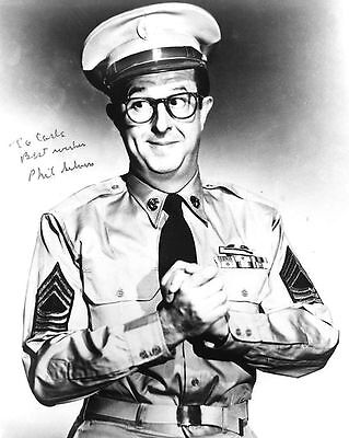 Phil Silvers as Sergeant Bilko Autograph Signed Photo Preprint Glossy Picture