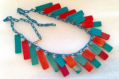 Vintage galalith & celluloid  Egyptian revival art deco necklace # 1