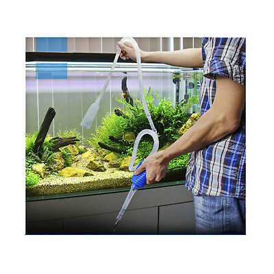 Aquarium Fish Tank Gravel Aspiration Cleaner Pompe Siphon Filtre à eau