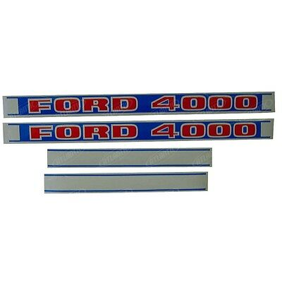 Decal set Hood for a Ford 4000 tractor