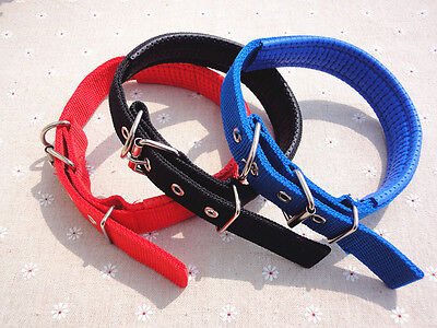 Adjustable Fabric Nylon Dog Puppy Pet COLLAR With Buckle Clip Lead Safety SMALL