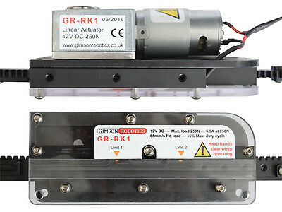 Adjustable Travel 12V DC Rack & Pinion Linear Actuator, Gate, Door, Slider Motor