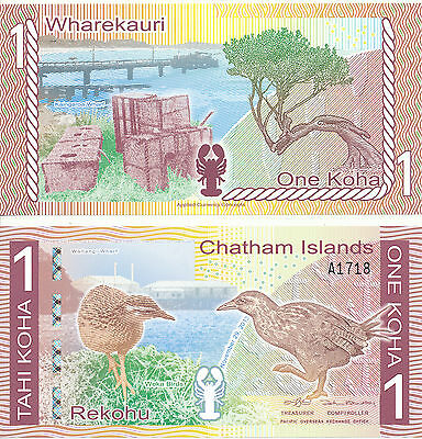 Chatham Islands - 1 Koha 2013 (2014) UNC - Polymer