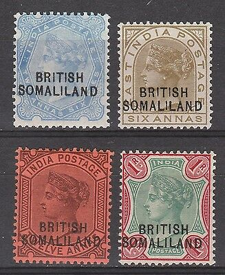 British Somaliland 1903 Qv Range To 1R Overprint At Base