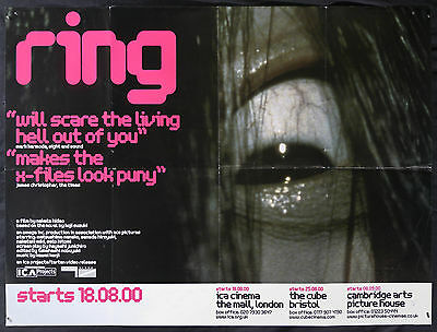 RING (1998) Original UK Quad Cinema Poster HIDEO NAKATA Ringu JAPAN