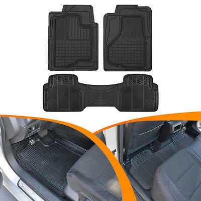 Front & Rear Rubber Floor Mats for Auto Car SUV Heavy Duty 3D Rubber Accessories