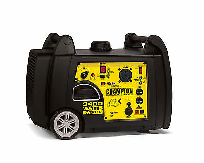 Champion 3100/3400 Watt Portable Gas-Powered Remote Start Inverter Generator