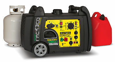 3100/3400 Watt Portable Dual Fuel-Powered Electric Start Inverter Generator