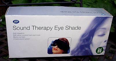 New BOOTS Sound Therapy Eye Shade - Sounds of Ocean Waves Rainforest Rain Drops