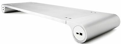Quirky Metal SpaceBar Monitor Stand With 6 x USB Ports MAC & PC Compatible