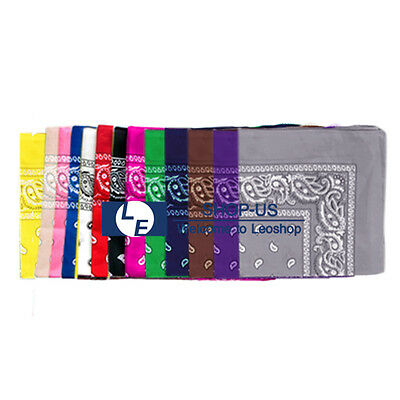 New Cotton Paisley Print Scarf Bandana Handkerchief Head Wrap Neck Headband