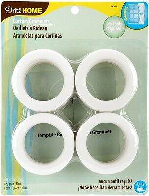 Curtain Grommets 4cm Inner Diameter, 8-Pack, White. Free Delivery
