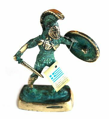 Ancient Greek Bronze Leonidas Spartan Green Gold Oxidization 197