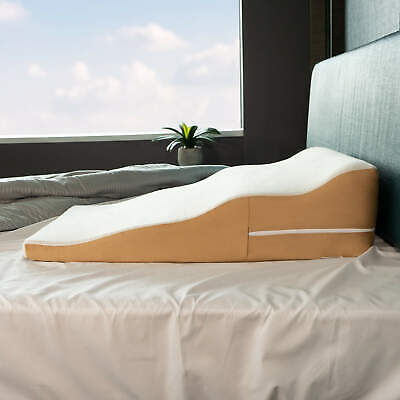 Avana Contoured Bed Wedge Pillow with Cool Gel Memory Foam and Bamboo Cover