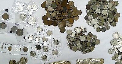 17 Coin Lot From Huge Estate Buy! Silver,wwii,ancient,indian,buffalo, 1800's!!