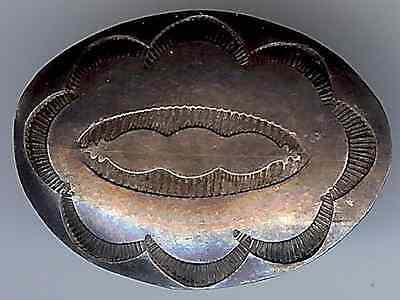 Small Stamped Vintage Navajo Indian Sterling Silver Concho