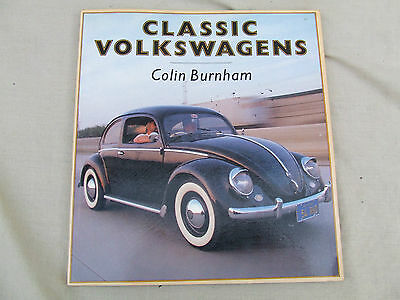 Vw Book,classic Volkswagens,colin Burnham,osprey Publishing,1988,photo's