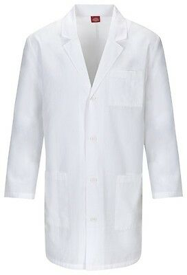 "Dickies 37"" Unisex Lab Coat 83402 DWHZ White Free Shipping"