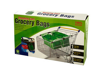 Reusable Shopping Cart Grocery Bags lot of 4 sets 8 bags Total
