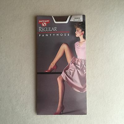 Vintage 80s 'SAFEWAY' Brand SHEER Stretch SHADOW Pantyhose ~ Sexy 80s MODEL!