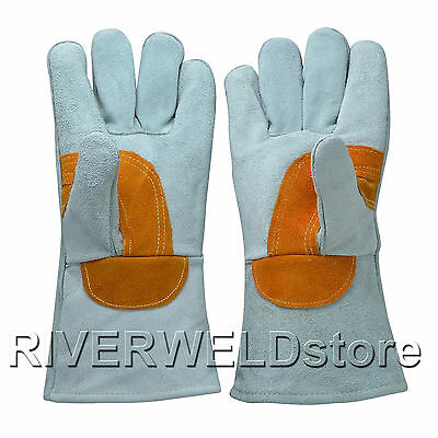 High Quality Gray Colour Cowhide leatherWelding Gloves for Welding Protection