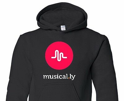 Musically Graphic Black hoodie  sweatshirt youth size  S M L XL T-125H