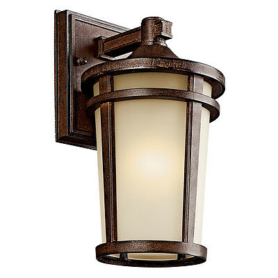 Kichler 49071BSTFL Atwood Fluorescent Outdoor Lighting Wall Sconce,Brown Stone