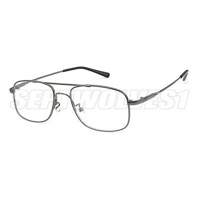 Memory Titanium Alloy Full Rim Flexible Eyeglass Frame Optical Eyewear RX  Able