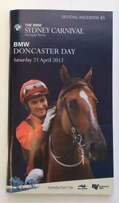 2012 Doncaster Day Randwick Official Race Book - More Joyous - Horse Racing
